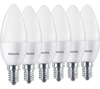 Philips LED Świeczka 5,5 W (40 W) E14 6 szt.