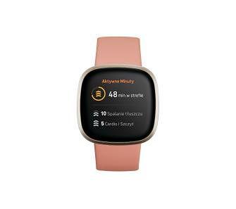 Fitbit versa 3 (złoty/różowy)