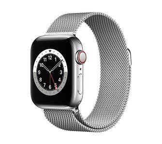 Apple Watch Series 6 GPS + Cellular 44mm (srebrny)