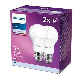 Philips 2 PAK LED 75W E27 A60 (zimna biel)