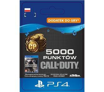 Call of Duty: Modern Warfare 5000 Punktów [kod aktywacyjny] PS4Dostęp po opłaceniu zakupu