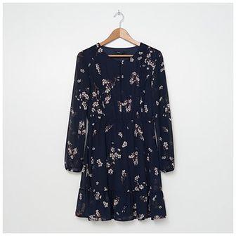 House - Wzorzysta sukienka z podkreśloną talią - Wielobarwny