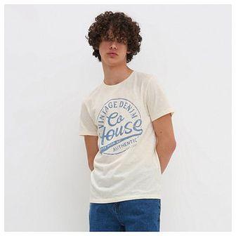 House - T-shirt z nadrukiem - Kremowy
