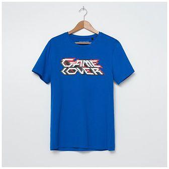House - T-shirt z nadrukiem Game Over - Turkusowy