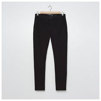 House - Spodnie chino slim fit z bawełny organicznej - Czarny