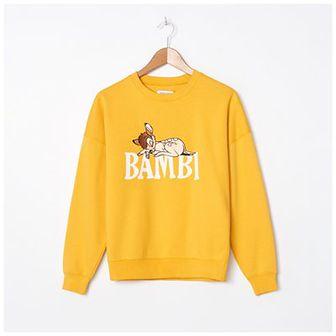 House - Bluza z haftem Bambi - Żółty