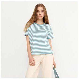 House - Koszulka w paski basic - Niebieski