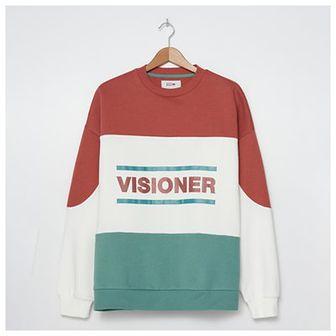 House - Bluza oversize z napisem Visioner - Czerwony