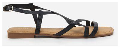 House - Sandały z cienkimi paskami - Czarny
