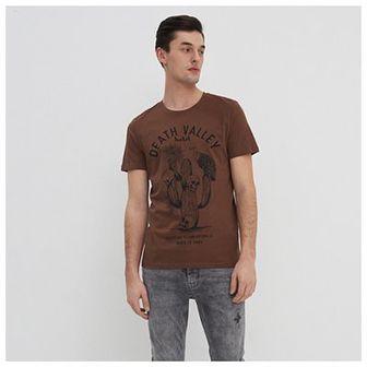 House - T-shirt z nadrukiem Death Valley - Brązowy
