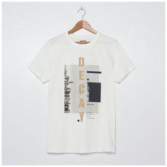 House - T-shirt z nadrukiem Decay - Kremowy
