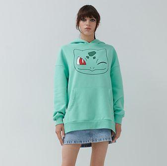 House - Bluza z kapturem Pokémon - Turkusowy