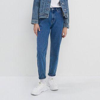 House - Mom jeans z bawełny organicznej - Niebieski