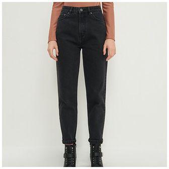 House - Mom jeans z bawełny organicznej - Czarny