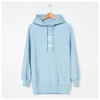 House - Bluza hoodie z haftem - Niebieski