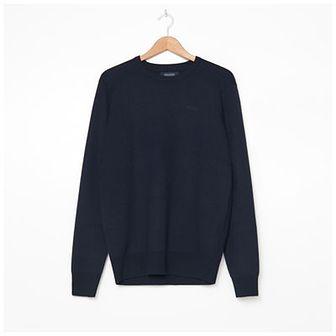 House - Gładki sweter z bawełną - Granatowy