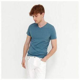 House - Koszulka z dekoltem w serek - Niebieski