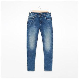 House - Jeansy slim fit z przetarciami - Niebieski