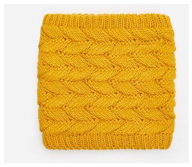 House - Komin z warkoczowym splotem - Żółty