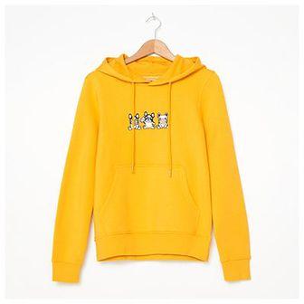 House - Bluza z haftem - Żółty