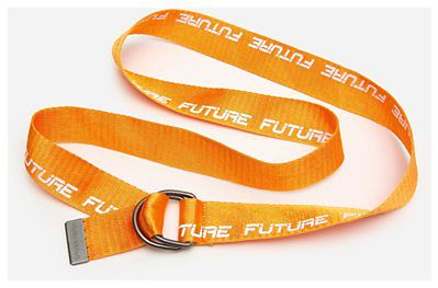 House - Materiałowy pasek z napisem Future - Pomarańczowy