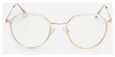House - Okulary zerówki - Biały