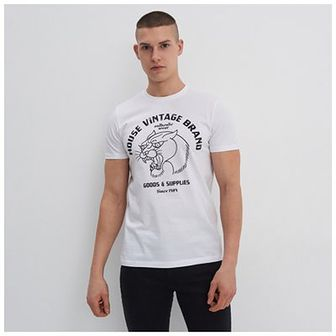 House - Koszulka z nadrukiem House Vintage Brand - Biały