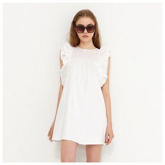 House - Bawełniana sukienka - Biały