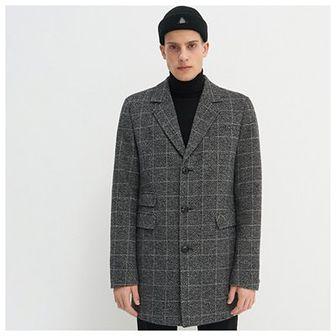 House - Płaszcz o prostym kroju z wełną - Wielobarwny