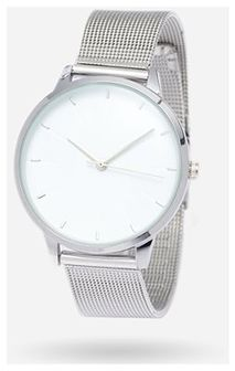 House - Zegarek z ozdobną bransoletą - Srebrny