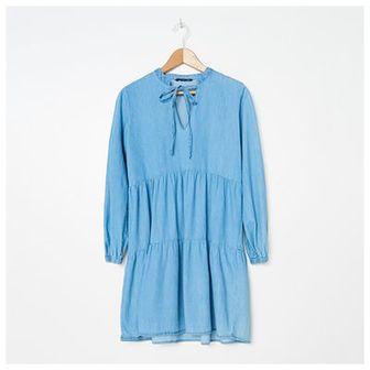 House - Denimowa sukienka babydoll - Granatowy