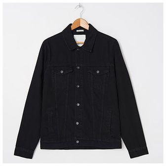 House - Kurtka jeansowa z bawełny organicznej - Czarny