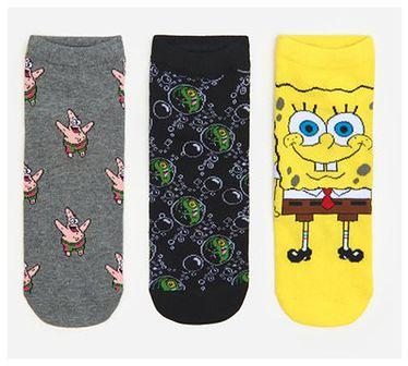 House - Skarpety Spongebob 3-pak - Wielobarwny