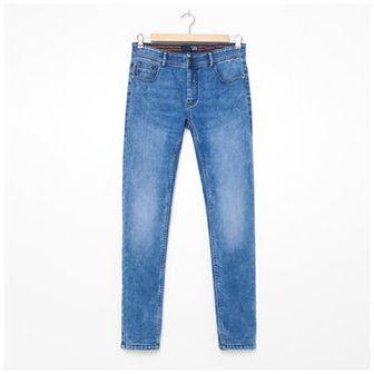 House - Jeansy skinny fit z przetarciami - Niebieski