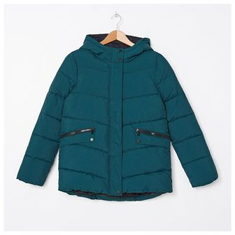 House - Pikowana kurtka z kapturem - Khaki