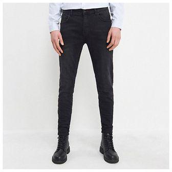 House - Jeansy slim fit z bawełny organicznej - Czarny