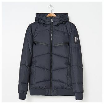 House - Pikowana kurtka z kapturem - Czarny