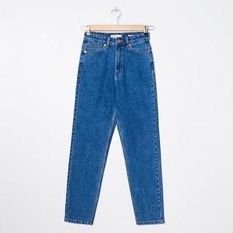 House - Mom jeans z bawełny organicznej - Granatowy