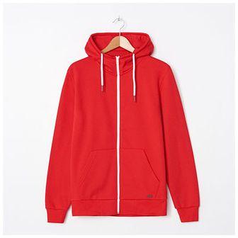 House - Rozpinana bluza z kapturem basic - Czerwony