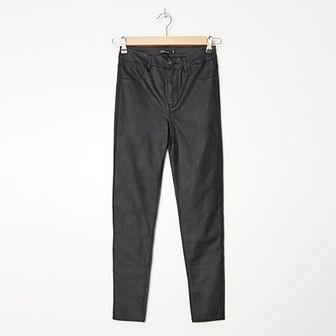 House - Woskowane spodnie - Czarny
