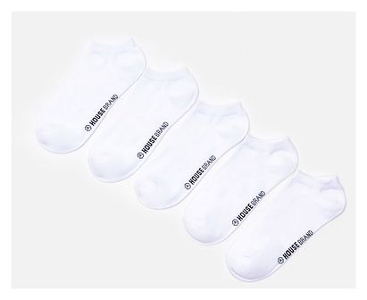 House - Skarpetki z bawełny organicznej 5-pak - Biały