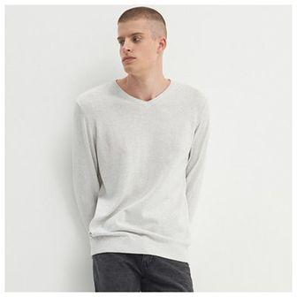 House - Sweter z bawełny organicznej - Jasny szary