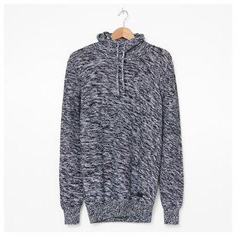 House - Melanżowy sweter z golfem - Szary
