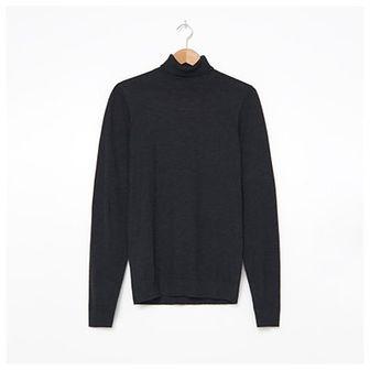 House - Bawełniany sweter z golfem - Czarny