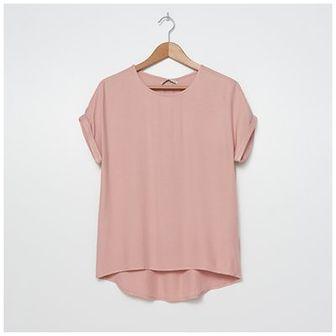 House - Wiskozowa bluzka basic - Różowy