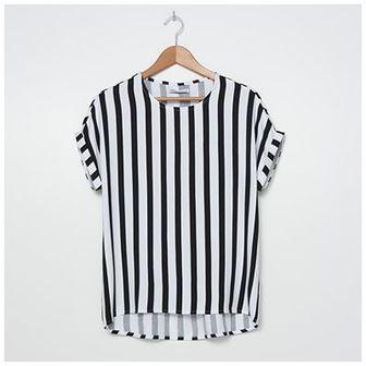 House - Wiskozowa bluzka w paski - Paski