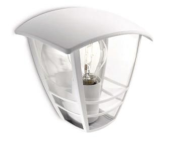 Philips Creek wall lantern white 1x60W 230V 15387/31/16