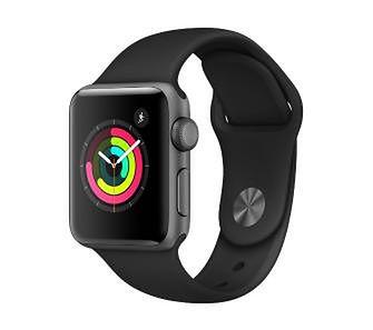Apple Watch 3 38mm czarny (pasek sport)