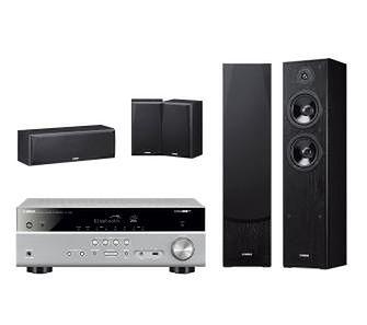 Yamaha MusicCast RX-V485 (tytanowy), NS-F51/NS-P51 (czarny)