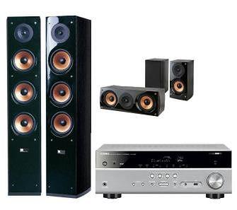 Yamaha MusicCast RX-D485 (tytanowy), Pure Acoustics NOVA 8, NOVA 6 (czarny)